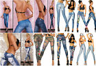 JEANS LEGGINGS Print Tatoo Tatooprint legins jeansprint  Leggins XS- L- OS