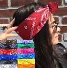Pin Up BANDANA Paisley Print HEAD SCARF Tie Headband Head Wrap Rockabilly Retro