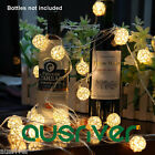 Waterproof Ratten Ball Pattern String Lights Handwork Romantic Wedding Deco New