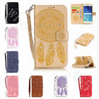 Women Bling Diamond Leather With Wrist Strap Wallet Case Cover For Mobile Phones