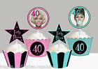 Marilyn Monroe 40th forty Milestone Birthday Party Cupcake Toppers cup cake