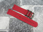 22m Red Nylon Diver Strap 3 Rings Watch Band 2 Pieces Type ZULU Maratac 22 mm