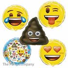 Emoji Birthday Party Helium Foil Balloons Decorations