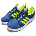 adidas Neo Label Cloudfoam Sprint Blue Volt Mens Running Shoes Sneakers AQ1489