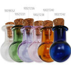 Wholesale 10pcs ,Multicolor Small Tiny Empty Clear Glass Bottles Vials with Cork