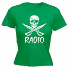 Pirate Radio WOMENS T-SHIRT tee illegal station music party funny mothers day