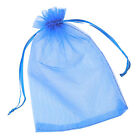 100pcs Charms Mixed Pure Color Organza Bags Jewelry Wedding Party 180*130mm L