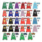 Boy and Girl Party Superhero Cape & Mask Costume Set Spiderman Batman Superman