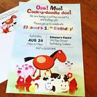 Petting Zoo Birthday Party Invitations - Set of 10- All Wording Customized