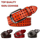 Fashion Top quality women's 100% genuine leather belts pin buckle hollow belts