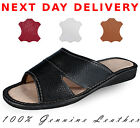 Lady Wonem 100% geneue natural leather slippers HQ big size 2 3 4 5 6 7 8 9 10