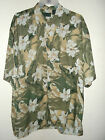 NEW  WHITE FLOWER JUNGLE HAWAIIAN SHIRT BY SCANDIA WOODS L or 2xl