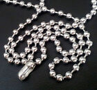 6mm Men Boy Stainless Steel Beads Balls Chain Necklace Bracelet Silver 6 - 46""