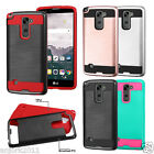 Brushed Metal Texture Case Shockproof Slim Cover for LG Stylo 2 Plus MS550