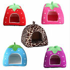 Soft Purple Strawberry Pet Dog Cat Rabbit Bed House Doggy Warm Cushion Basket