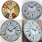 Fashion Large Antique Round Wall Clock Vintage Retro Style Art Working Xmas Gift