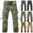 New Men Cargo Pants Wearable Cotton Work Trousers Camo Fishing Training Hiking