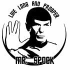 Spock Vinyl Decal Sticker Star Trek Movie Space Adventure Design USA Seller