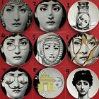 "Reproduction Replica Fornasetti 8"" Plate Ceramics Dish Art Nouveau Home Wall Dec"