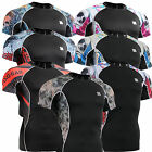 mens womens SKIN compression tight shirts under shortsleeve baselayer Top S~4XL