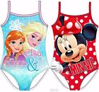 New Girls Minnie Mouse Disney Frozen Swim Suit Swimming Costume Ages 2 3 4 5 6