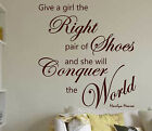MARILYN MONROE Right Shoes  wall quote sticker WALL DECAL Wall Quote Sticker N46