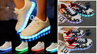 SCARPE GINNASTICA USB RICARICABILI NERE BIANCHE O USA SNEAKERS LUCI LED SHOES
