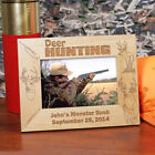 Personalized Deer Hunting Picture Frame Engraved Deer Hunter Hunting Photo Frame