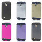 Lot/6 Brushed Finish Hybrid Case for Samsung Galaxy S4 Wholesale