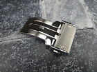 22mm 24mm Silver Stainless Deployment Buckle HUBLOT Big Bang Strap Band Clasp