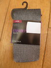 MARKS & SPENCER BLACK WITH SILVER OR GOLD METALLIC FISHNET TIGHTS S M L XL BNWT