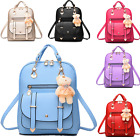 Fashion Women Girl School PU Leather Shoulder Bag Backpack T