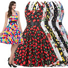 Plus Size 3XL Womens 50s Retro Swing Pinup Girls Rock N Roll Evening Party Dress