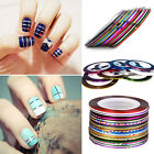 1/10/20 Rolls Striping Tape Line Nail Sticker Nail DIY Kit Nail Art UV Gel Tips