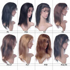 100% Remy Indian Virgin Human Hair Lace Front Wigs Yaki Straight Hair Wig