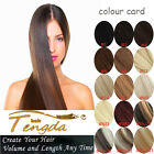 """100% Remy Clip In Human Hair Extensions Full Head 16"""" 70g-120g Thick 7pcs/Set"""