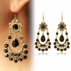 Femme Strass Cristal Stud Oreille multiple Boucles D'oreilles Goujons Dangle