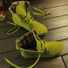 New Womens Lace Up Round Toe Ankle Boots Flats  Fashion Faux Suede Casual Shoes