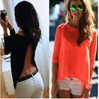 Fashion Sexy Women 3/4 Sleeve LADIES Sexy T-Shirt Summer Casual Loose Top Blouse