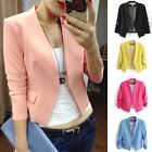 Korean Women Ladies Fashion Candy Color 3/4 Sleeve Blazer Coat Tops Business New