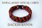 Royal Army Dental Corps Hand made Paracord Wristband Un-Official Help For Heros