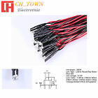 20pcs 1.8mm 2mm DC 9-12V Pre-Wired Wter Clear Diffused Warm White Red LED Diodes