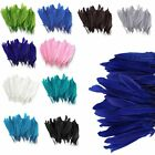 100Pcs Beautiful Goose Feathers 4-6''/10-15cm Wedding Party DIY Decoration Craft