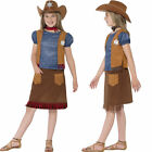 Girls Cowgirl Ranch Girl Fancy Dress Wild West Costume Smiffys 24669