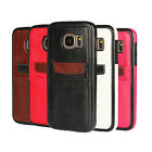 Newest Slim hybrid TPU & Leather Case with card holder for Samsung S7 / S7 EDGE