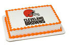 Cleveland Browns NFL football image cake topper frosting sheet #4681