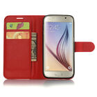 Folio Leather Flip Wallet Case Stand Cover Card Holder For Samsung Galaxy Phones