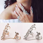 Exquisite  Hollow Diamond Flowers Roses Ring Women Gift Ornamental  Special  Q