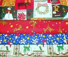 CLEARANCE CHRISTMAS #5  FABRICS Sold INDIVIDUALLY NOT AS  GROUP By the HALF YARD