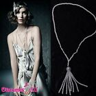 1920s 20s Pearl Necklace Vintage Bridal Great Gatsby Costume Dress Accessory